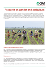 Research on Gender and Agriculture